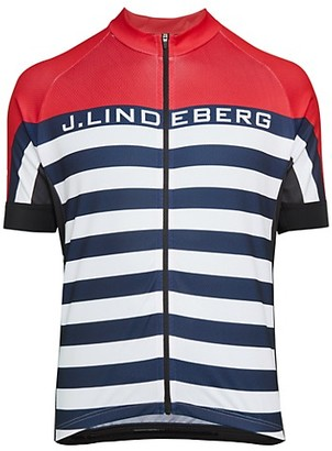 J. Lindeberg San Remo Bike Jersey Zip-Up T-Shirt