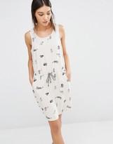 Vero Moda Printed Tie Waist Dress