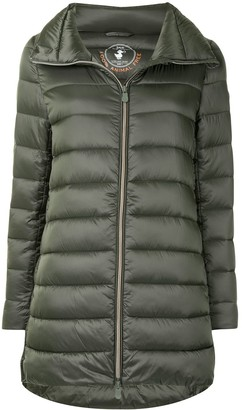 Save The Duck Light Long Quilted Jacket