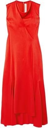 Victoria Beckham Draped Satin-crepe Midi Dress