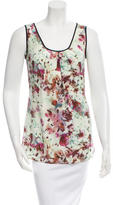 Richard Chai Sleeveless Printed Top