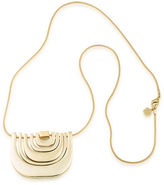 Trina Turk 14K Goldplated Brass Multi-Row Pendant Necklace