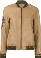 Mr & Mrs Italy - sleeve patch jacket - women - Cotton/Sheep Skin/Shearling/Polyester - M