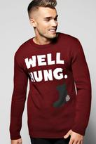 Boohoo Well Hung Christmas Jumper