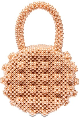Shrimps Selena Round Beaded Top Handle Bag