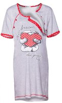 Happy Mama Boutique Happy Mama. Womens Maternity Nursing Breastfeeding Nightdress Shirt Gown. 367p (, US 10/12, XL)
