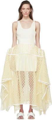 Loewe Yellow Lace Basque Skirt