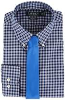 Lauren Ralph Lauren Classic Fit Non Iron Poplin Plaid Button Down Collar Dress Shirt Men's Long Sleeve Button Up