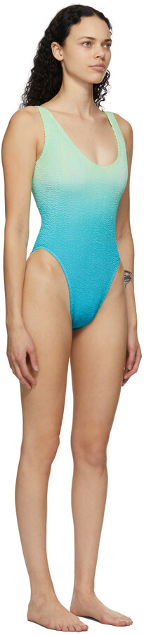 Thumbnail for your product : BOUND by Bond-Eye Green & Blue 'The Mara' One-Piece Swimsuit