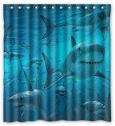 """Fashion Sea World Shark Shower Curtain (66"""" x 72"""" )"""
