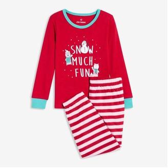 Joe Fresh Toddler Girls' 2 Piece Sleep Set, Red (Size 2)