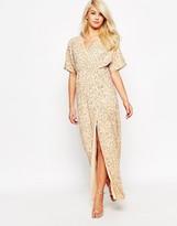 Asos Sequin Kimono Maxi Dress