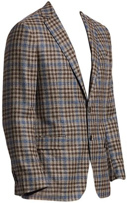 Saks Fifth Avenue COLLECTION Plaid Wool & Silk Basketweave Sportcoat