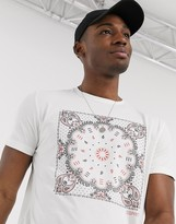 Esprit bandana print t-shirt in white