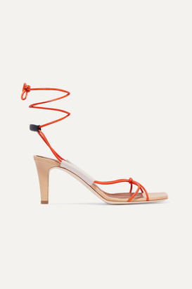 Malone Souliers Roksanda Camila 70 Leather Sandals - Orange