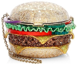 Judith Leiber Couture Hamburger Crystal Clutch