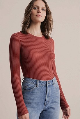 Witchery Crew Wool Blend Knit