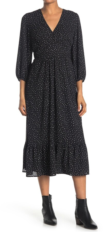 Thumbnail for your product : Collective Concepts Long Sleeve Woven Midi Dress