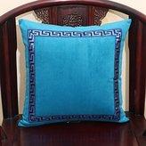 Bed Pillows a Nap Back Office Of the Car Belt Lumbar Pillow pillowcase Sofa Cushion Pillow Sky Blue 60X60cm(pillowcase + Pillow)