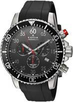 Edox Men's 'Chronorally-S' Quartz Stainless Steel and Rubber Sport Watch, Color: (Model: 10227 3CA NBN)