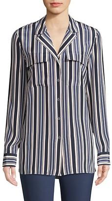 Lafayette 148 New York Maximina Palm Desert Striped Shirt