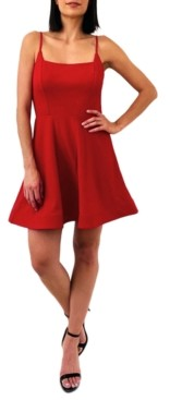 Trixxi Juniors' Cutout-Back Fit & Flare Dress