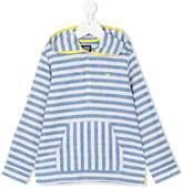 Armani Junior striped hooded shirt