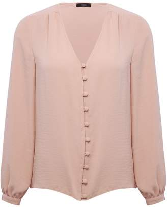 M&Co Button front v neck top
