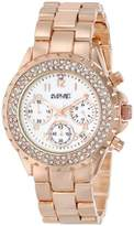 August Steiner Women's AS8031RG Crystal Mother-Of-Pearl Chronograph Bracelet Watch