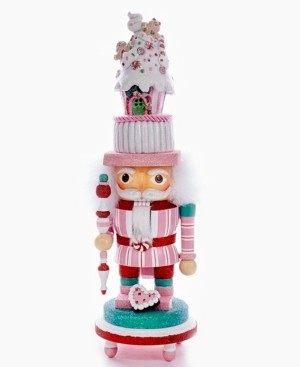 "Kurt Adler 15"" Hollywood Nutcracker with Candy House Hat and Led"