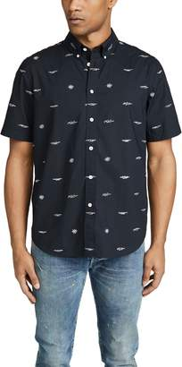 Rag & Bone Smith Short Sleeve Logo Shirt