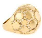 Rivka Friedman 18k Clad Simulated Diamond Cobblestone Dome Ring.