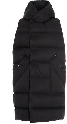 Rick Owens Long-Line Hooded Puffer Vest