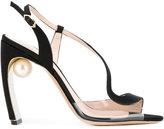 Nicholas Kirkwood Maeva Pearl S sandals - women - Silk/Leather/Kid Leather - 37.5