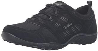 Skechers Women's Breathe-Easy-Good Luck Low-Top Sneakers, Black (blk), 36 1/2 EU
