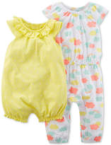Carter's 2-Pack Printed Cotton Romper & Jumpsuit, Baby Girls