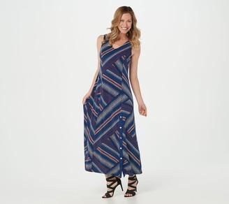 Susan Graver Regular Solid or Printed Liquid Knit Maxi Dress