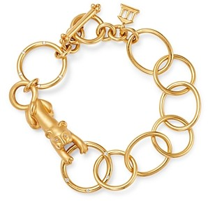 Temple St. Clair 18K Yellow Gold Diamond Lion Arno Link Bracelet