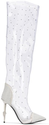 Philipp Plein Crystal Embellished 125mm Boots
