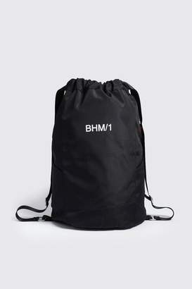 boohoo MAN Drawstring Backpack