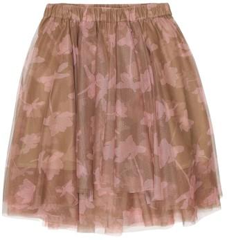 BRUNELLO CUCINELLI KIDS Printed tulle skirt