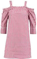 Daisy Street CHECK CUT OUT SHOULDER Summer dress red