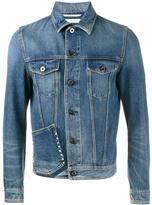 Valentino Rockstud denim jacket - men - Cotton - 46