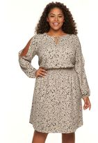 Apt. 9 Plus Size Cold-Shoulder Crepe Dress