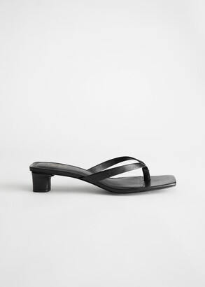 And other stories Leather Kitten Heel Flip Flop