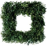 The Well Appointed House Fresh Square Boxwood Christmas Wreath-Available in Two Different Sizes