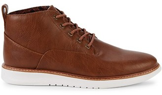 Ben Sherman Faux Leather Ankle Boots