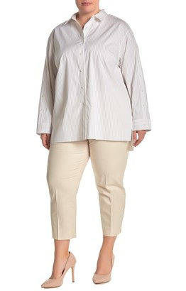 Lafayette 148 New York Tapered Ankle Cropped Pants (Plus Size)