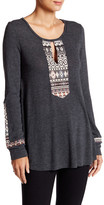 Anama Loose Fit Embroidery Panel Blouse