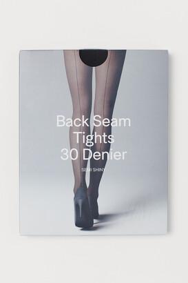 H&M 30 Denier Tights With Seams